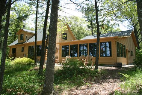 Cottages For Sale In Northern Wisconsin by Lakefront Log Homes Cabins Home Floor Plans Wisconsin