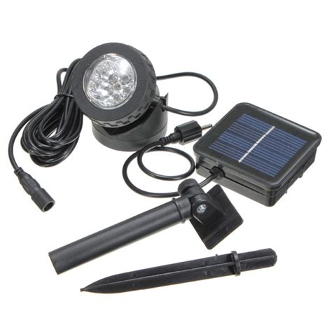 solar led spot light buy waterproof ip68 solar powered 6 led spotlight spot