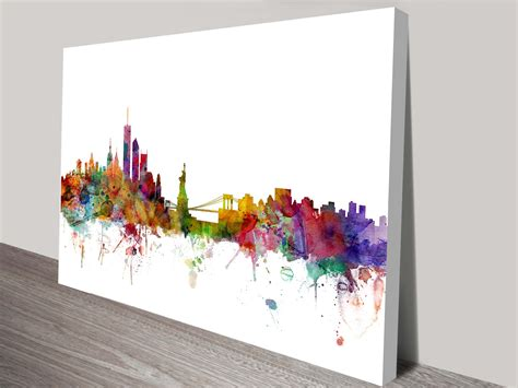 new york skyline by michael tompsett wall canvas print