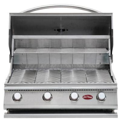 Home Depot Bbq Grills by Cal Gourmet Series 4 Burner Built In Stainless Steel