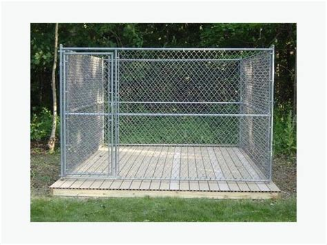 chain link kennel panels delivery included 10x10x6 panel style chain link kennel outside