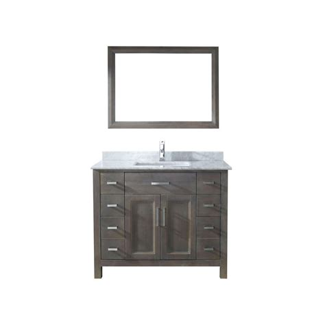 42 Bathroom Vanity With Top Studio Bathe 42 In Vanity In Gray With Marble Vanity Top In Carrara White And