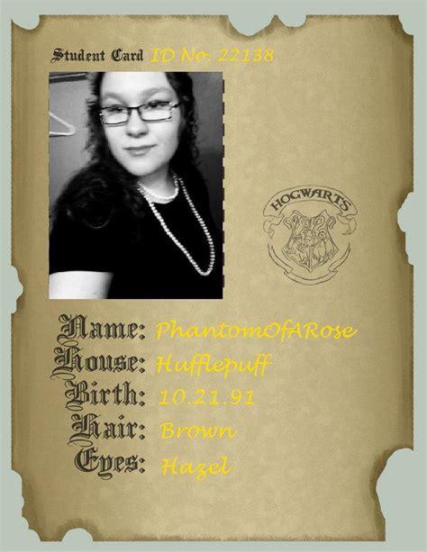 deviantart student id card template hogwarts student id by phantomofarose on deviantart