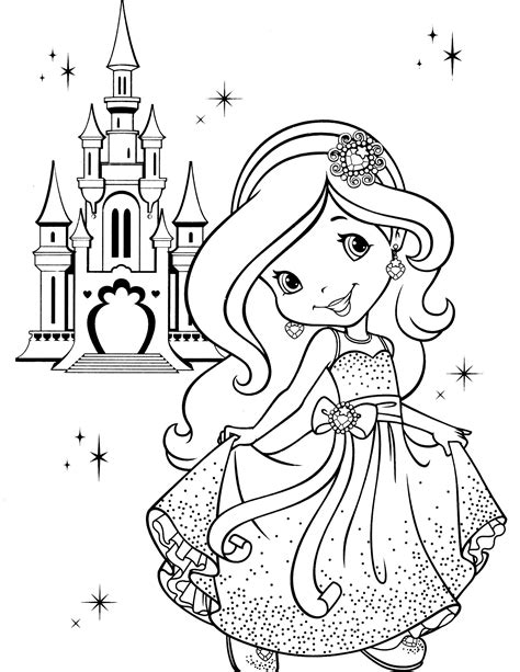 strawberry shortcake coloring book strawberry shortcake coloring page easy crochet stitch