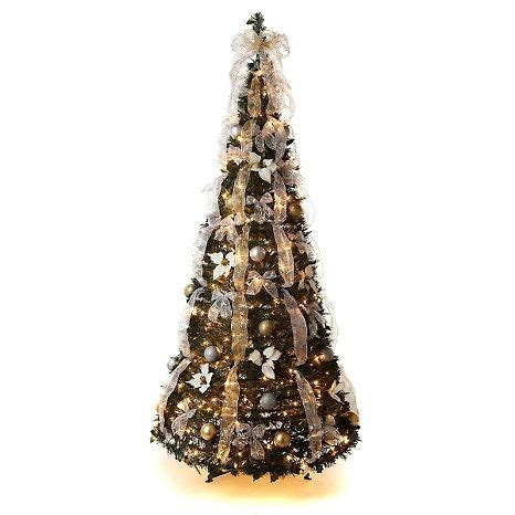 winterlane pop op tree winter 6 pull up fully decorated tree on hsn small spaces