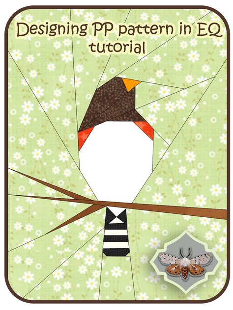 How To Make Paper Piecing Patterns - shape moth designing paper piecing patterns in eq7 tutorial