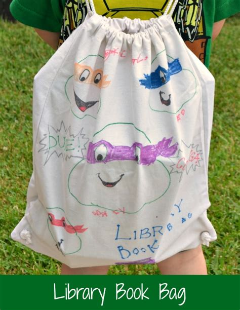 How To Decorate A Backpack With Sharpie by Decorated Library Bag With Sharpie Paint Markers