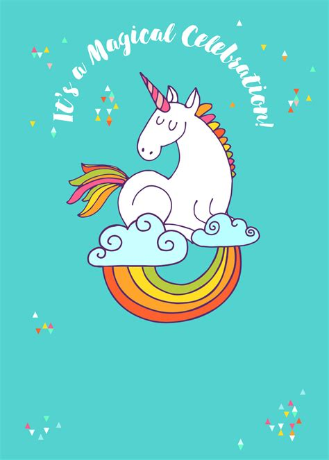 printable birthday cards unicorn unicorn magic free printable birthday invitation
