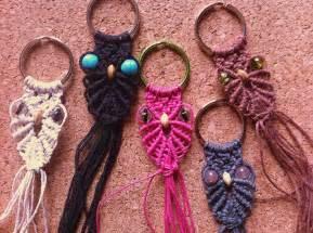 Macrame Keychain Patterns - hemp macrame owl keychains my and jewelry