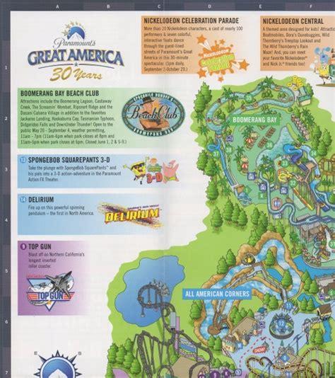 california s great america map california s great america 2006 park map