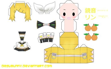 Vocaloid Papercraft - kagamine rin papercraft by tsunyandere on deviantart