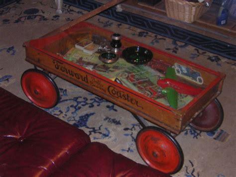 wagon coffee table wood coaster wagon coffee table collectors weekly