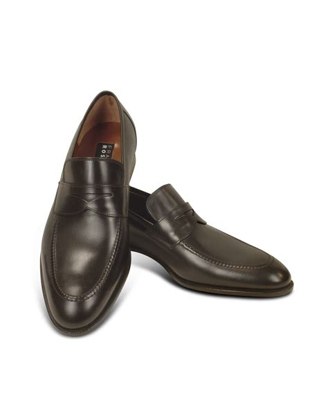 shoes loafer lyst fratelli rossetti brown calf leather