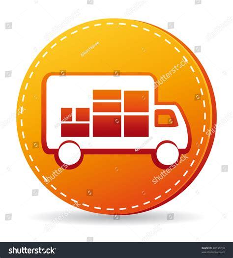 orange delivery orange delivery truck icon stock photo 48638260