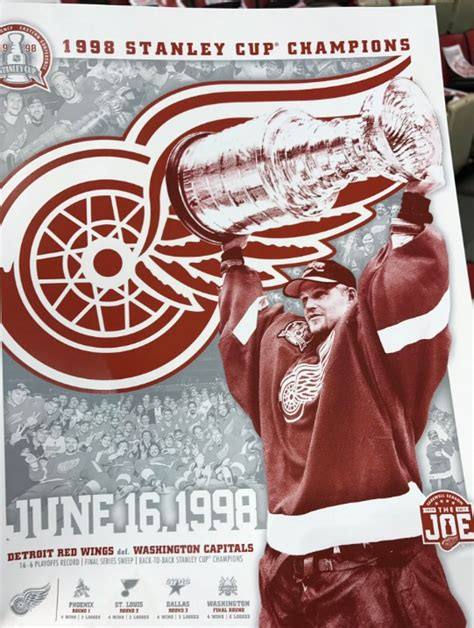 Boston Bruins Giveaways 2016 2017 - january 18 2017 detroit red wings 1998 chionship poster