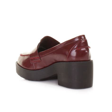 womens platform loafers loafer womens black chunky platform flat shoes