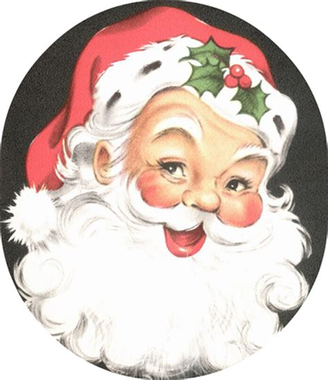 printable santa face clip art on pinterest clip art free vintage clip art