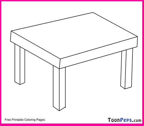 Coloring Desk For by Table Coloring Page Coloring Home