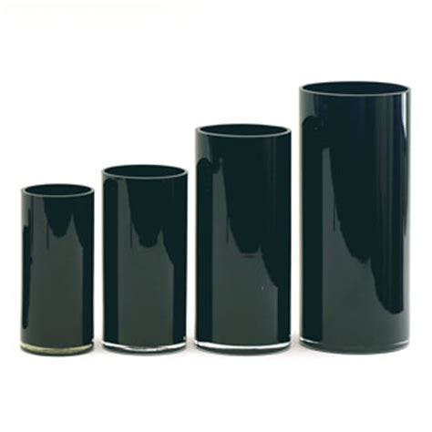 Black Cylinder Vases by 12 Quot Glass Cylinder Black Floral Supply Syndicate Floral Gift Basket And Decorative Packaging