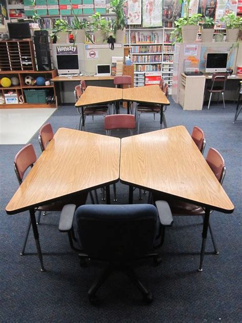 classroom layout with trapezoid tables best 25 classroom table arrangement ideas on pinterest