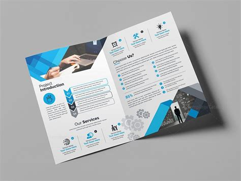 blue corporate bi fold brochure template 000710 template