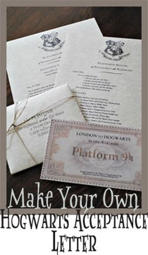 Hogwarts Acceptance Letter Create Your Own 17 Best Images About Hogwarts Trunk Project On Harry Potter Diy Harry Potter