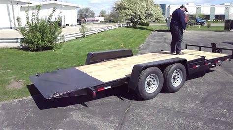 tilt bed car trailer open car trailer with tilt bed operation youtube