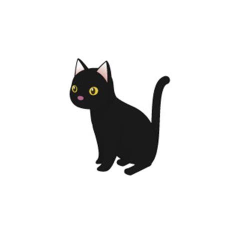 Black Cat T L Ld 86 Cm 無料素材 黒猫を描いたイラスト 真っ黒の毛並みにクリっとした瞳がかわいい雰囲気