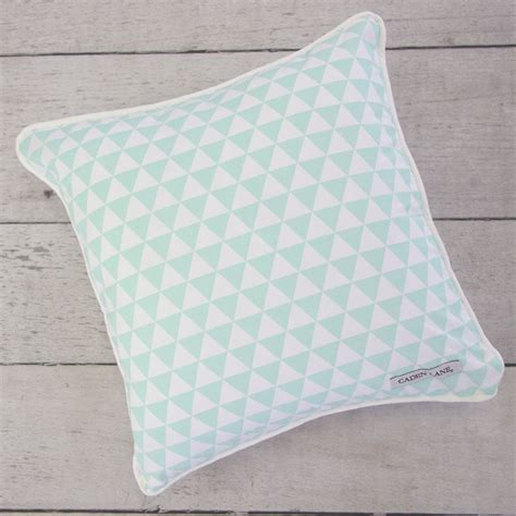 Triangle Pillow For Baby by Mint Arrow Modern Baby Bedding Caden
