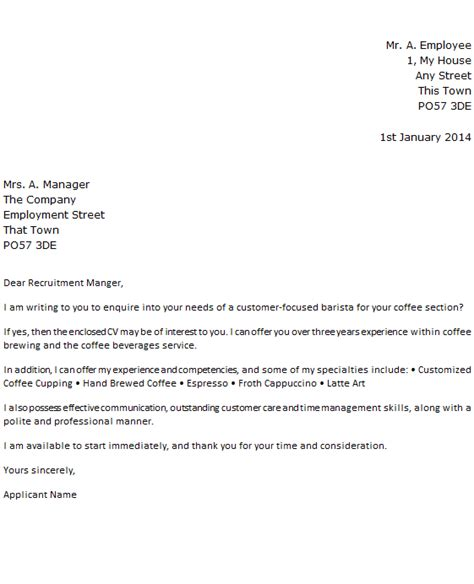 Awesome Barista Cover Letter   Simple Cover Letters
