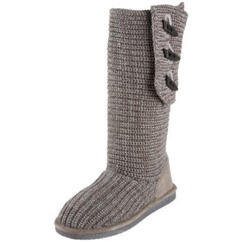 bearpaw gray knit boots bearpaw knit 658w s sweater boots free