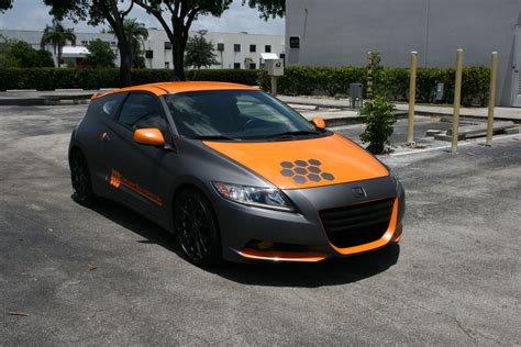 honda custom car miami custom honda crz matte grey car wrap