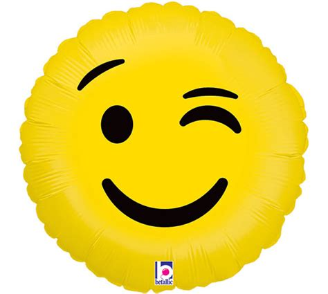 Diskon Balon Foil Emoji Emoticon New emoji balloons 18 inch wink emoji foil balloon emoticon wink balloon smiley balloon