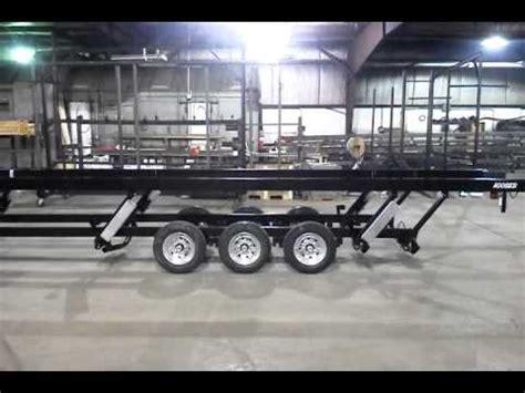 tritoon boat trailer bx tritoon pontoon trailer raise lower youtube