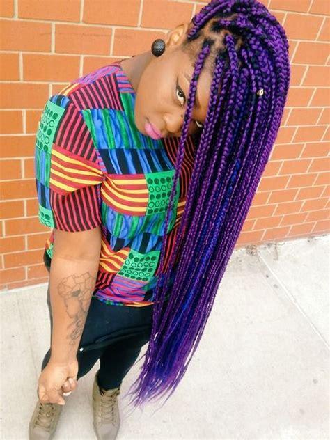cute box braid colors purple box braids hair colors ideas