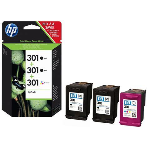 color ink cartridge hp 301 3 pack colour ink cartridge e5y87ee ebuyer