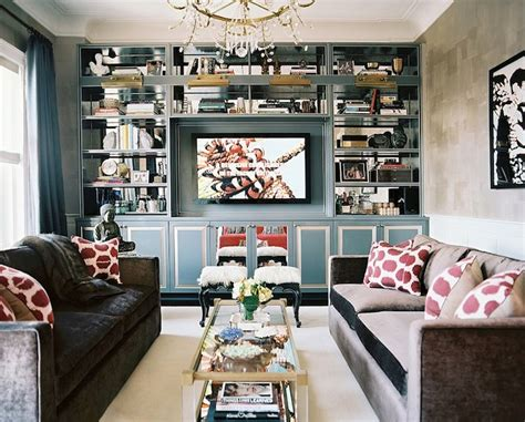 Contemporary Living Room Built Ins Built In Cabinets Contemporary Living Room Lonny