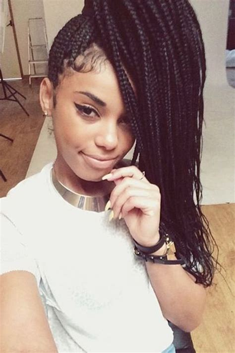 microbraids with bangs micro braids with bangs google search the look pinterest