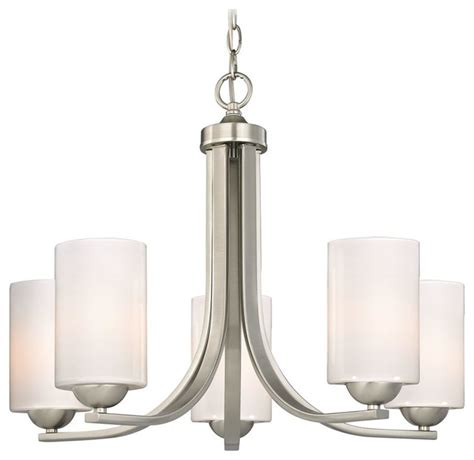 contemporary chandelier shades contemporary chandelier with opal white cylinder glass