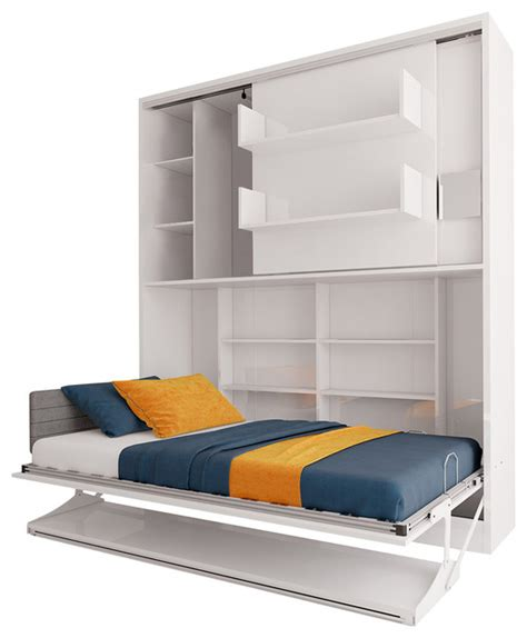 twin wall bed creo twin wall bed unit white contemporary murphy
