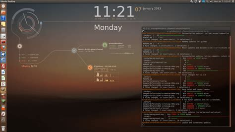 conky themes kali linux how to decorate your ubuntu desktop using quot conky quot tool
