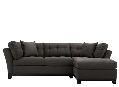 metropolis 2 pc microfiber sectional sofa