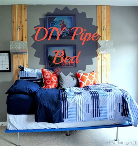 Diy Boys Bedroom Ideas Diy Pipe Bed