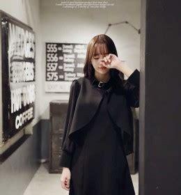 Kemeja Kotak Serut Wanita Hitam Kualitas Cantik jaket korea wanita trendy dan fashionable