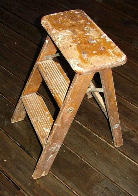 Wayborn Retractable Wooden Step Stool by Mid Century Ladder Step Stool Great Plant Stand Step