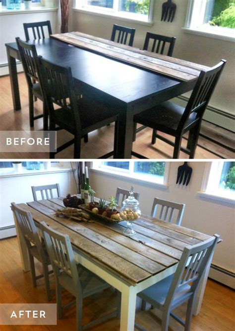 Diy Dining Room Table Makeover Diy Dining Table And Chairs Makeovers The Budget Decorator