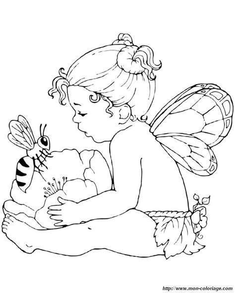 pin baby fairies coloring pages on pinterest