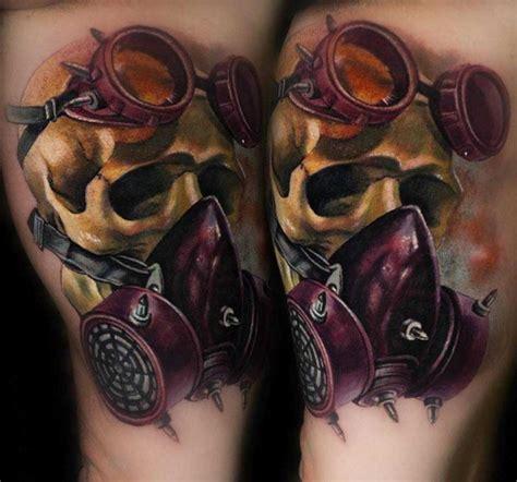 Motorrad Tacho Tattoo by Skull In Gas Mask Tattoo Best Tattoo Ideas Gallery