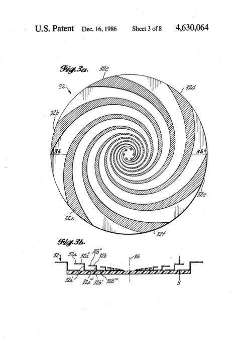 patent us4630064 spiral antenna with selectable impedance patents