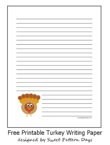 free thanksgiving writing paper turkey lined writing paper writing reading